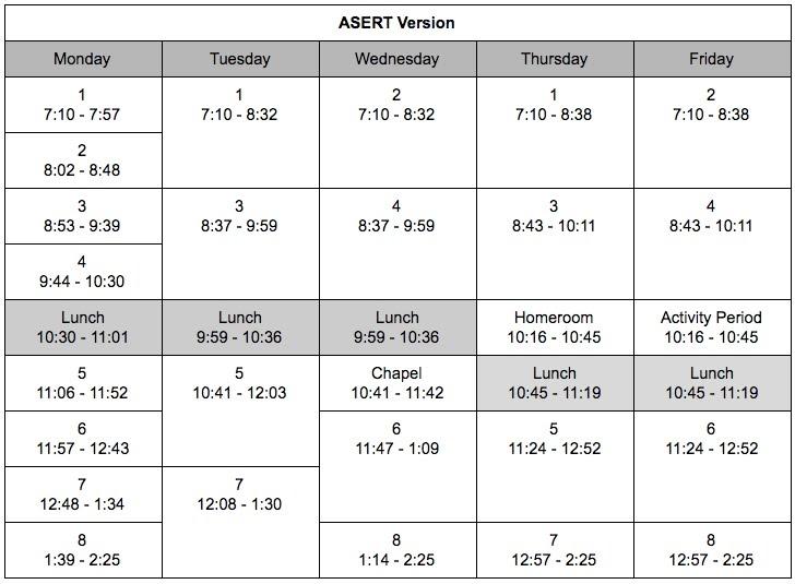 double double schedule
